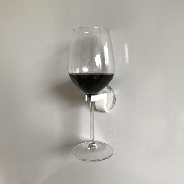 Wijnglas houder 10 EPIN 3D Wit Dichtbij Cadeau Geschenk