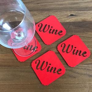Onderzetter wijnglas