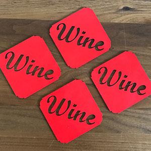 Wijnglas onderzetters