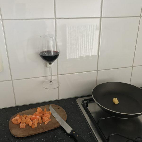 Wijnglas houder EPIN 3D Wit Voorkant Cadeau Geschenk