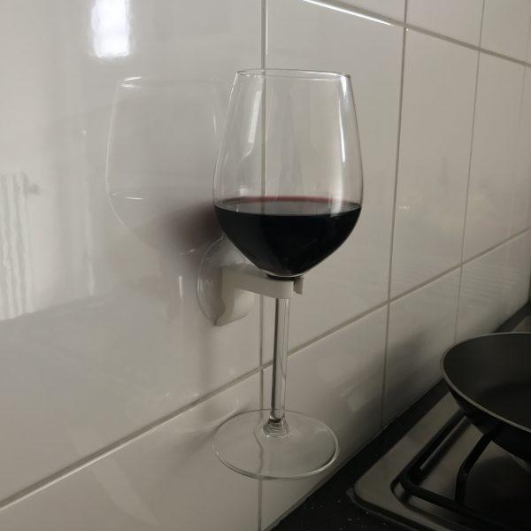 Wijnglas houder EPIN 3D Wit Close up Cadeau Geschenk