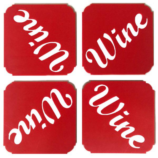 Wine onderzetters 4 stuks