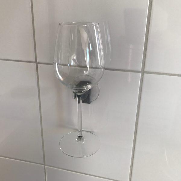 Wijnglas houder zilver
